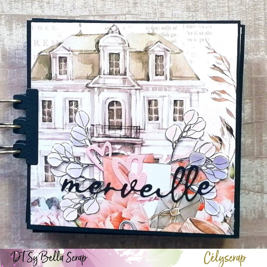 "MINI ALBUM : LA VERSION DE CELYSCRAP AVEC LA SUPERBE COLLECTION ""FLORABELLA"" DE MINTAY PAPERS"