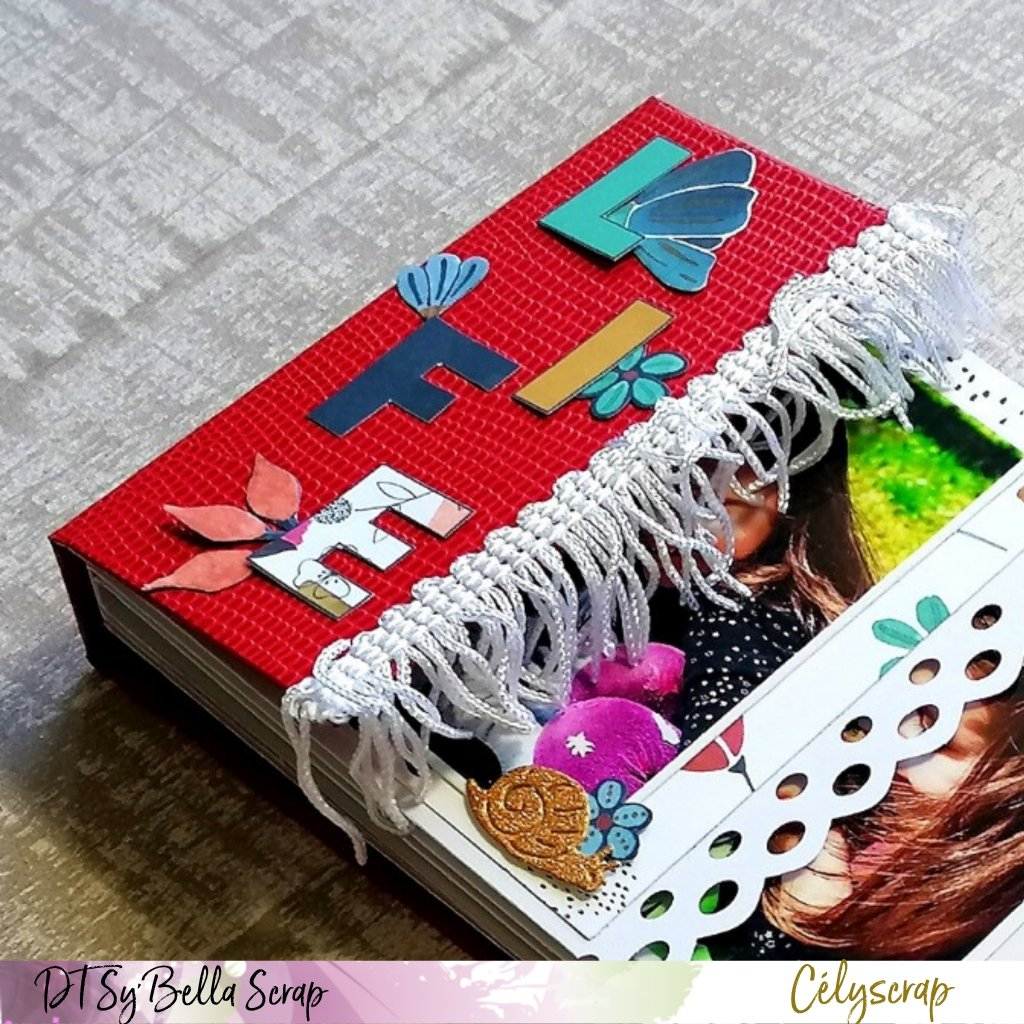 MINI ALBUM AVEC LA COLLECTION LIFE IN COLOR PAR NOTRE CREATIVE CELIE