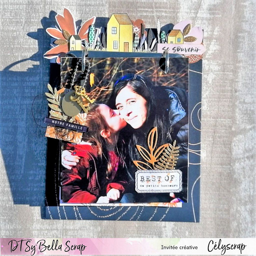 "MINI-ALBUM AVEC LA COLLECTION ""OR SAISON"" DE FLORILEGES DESIGN PAR CELYSCRAP !"