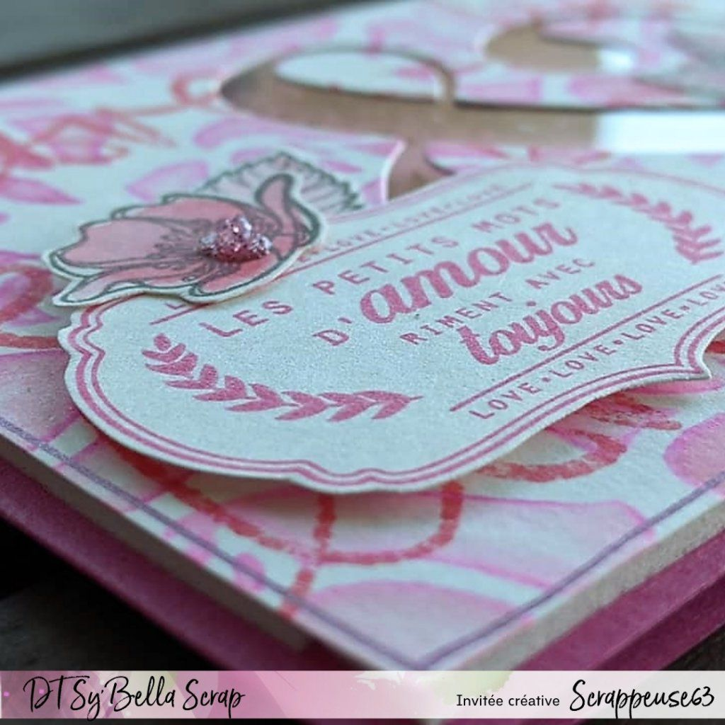 CARTE LOVE DE NELLY POUR LE CHALLENGE DE LA BOUTIQUE : OCTOBRE ROSE