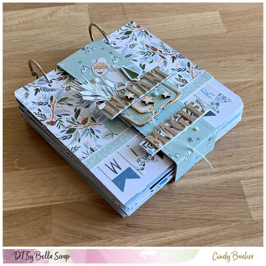 "Mini-album de Cindy avec la superbe collection "" winter market"" de Carta Bella"