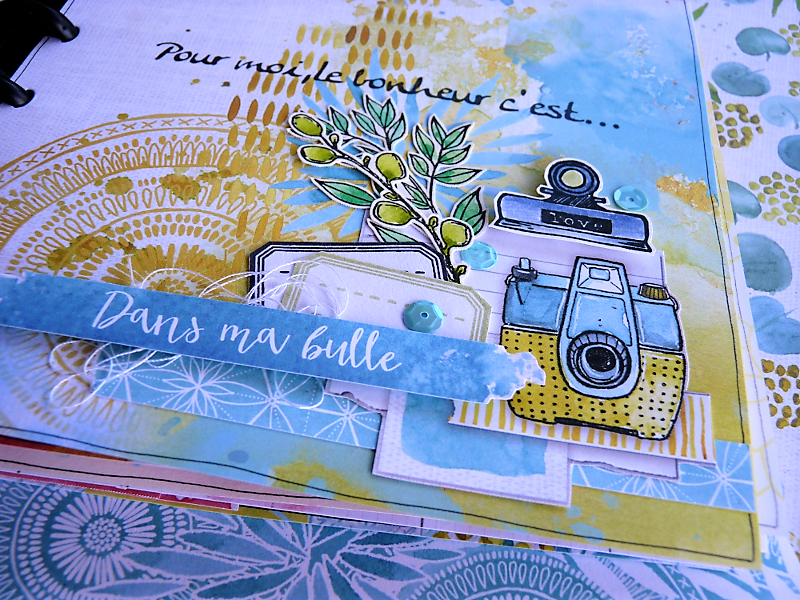 MINI ALBUM JUNK JOURNAL AVEC LA COLLECTION DANS MA BULLE DE NELLY
