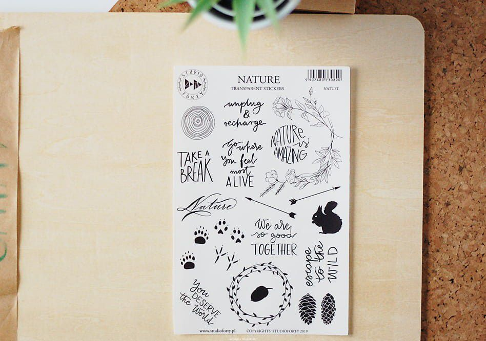 Set de stickers NATUST - Collection GAIA  STUDIO FORTY