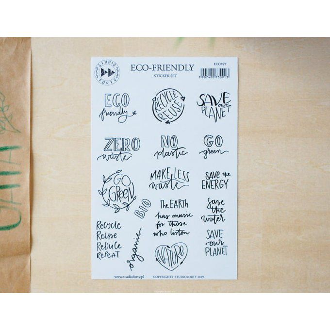Set de Stickers ECO FRIENDLY - Collection GAIA  STUDIO FORTY