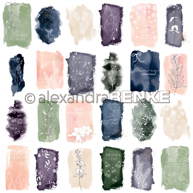 Papier Desing 12X12 'Card sheet abstract watercolours'