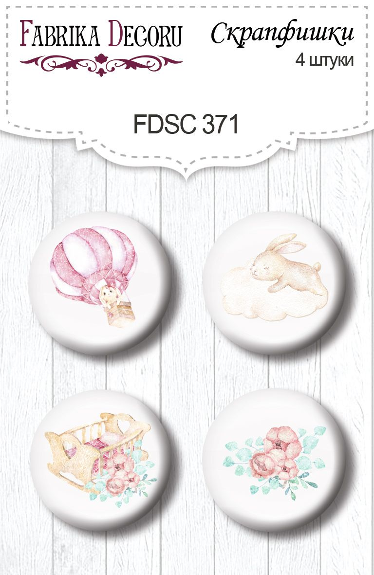 BADGES DREAMY BABY GIRL  FDECO