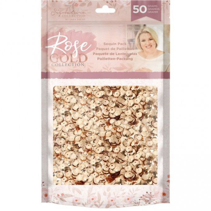Crafter's Companion Rose Gold Sequin Pack