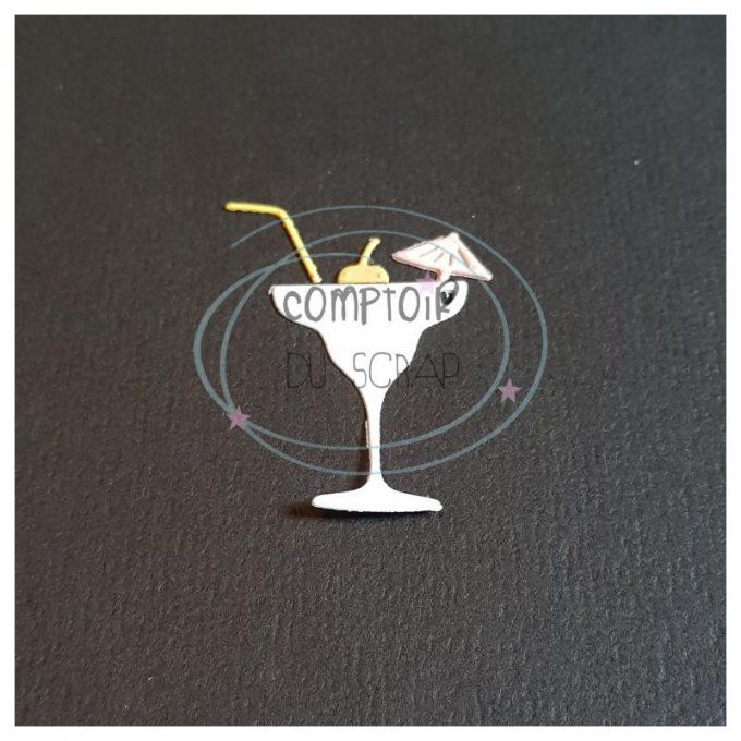 Die Verre cocktail parapluie CDS