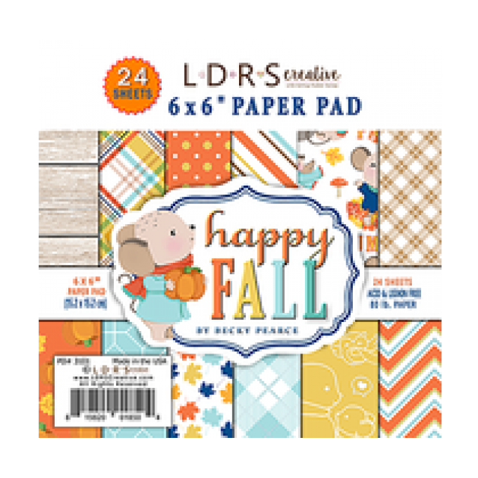Kit papier 15x15cm HAPPY FALL