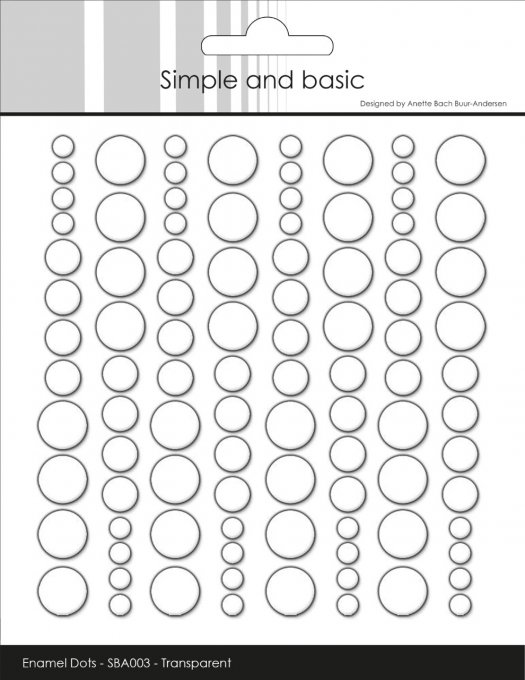 Simple and Basic Adhesive Enamel Dots Clear Water (96pcs)