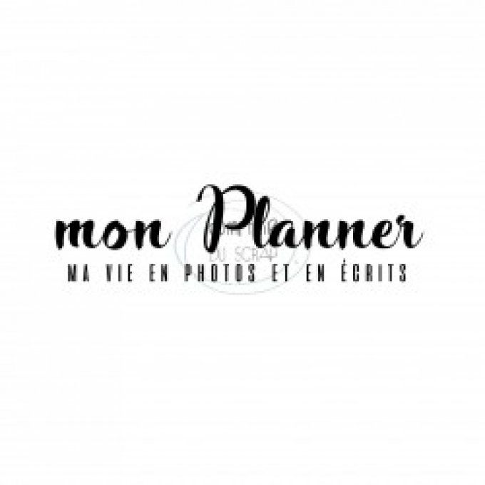 Tampon clear  MON PLANNER Coll sept 2019